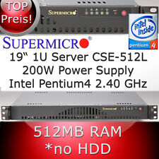 "1HE 19"" Supermicro Serveur P4 2,40GHz refurbished Gameserver CS 512MB RAM"