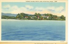 PITTSFIELD,MASSACHUSETTS-THOMAS ISLAND-ONOTA LAKE-LINEN-#143-(MASS-P*)