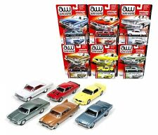 AUTO WORLD 1:64 PREMIUM SERIES RELEASE 5A - VINTAGE MUSCLE & CLASSIC CHROME SET