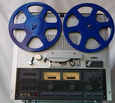 Stylische blaue 26,5 cm Tonbandspulen Bandspulen für Revox Akai Teac etc.