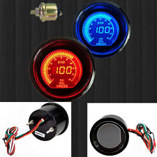 "2"" 52mm OIL PRESS PRESSURE CAR DIGITAL LED METER GAUGE TINT LENS BLUE RED Sale"