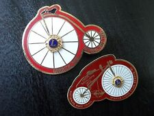 Vtg Penny Farthing High Wheeler Bicycle Lions Club Pin National Bike Trail