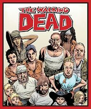 """Skybound The Walking Dead Character Panel 100% cotton 44"""" wide fabric panel"""