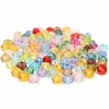 100 Perles En Cristal Multicolore Intercalaire toupie Couleur Mix Bijoux 4x6mm