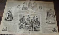 ANCIENNE REVUE LE PETIT ECHO DE LA MODE DE 1888 Nombreuses Gravures n°40