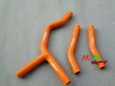 silicone radiator hose for KTM 200 250 300 EXC XC 2004 2005 2006 2007 orange new