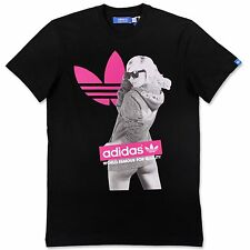 ADIDAS Originals Graphic Tee Girl Trefoil Uomo per il tempo libero Top x34433 NERO M