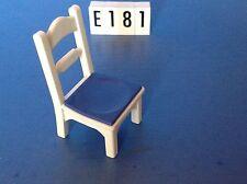 (E181) playmobil chaise blanche et bleue série 1900 ref 5317 4145 5301 5302 5305