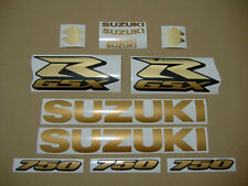 GSX-R 750 2008 gold chrome golden decals stickers graphics kit set 08 aufkleber