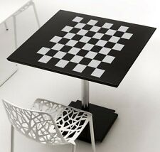 "Checkerboard Chess Board Design Frosted Etched Glass Vinyl Sticker Decal 11""h"
