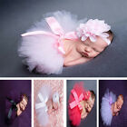 Pink Cute Newborn Baby Headband +Tutu Skirt Clothes Photo Prop Costume Outfits
