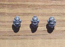 40K Space Marines Centurion Head Bare Heads Bits 3 Bitz