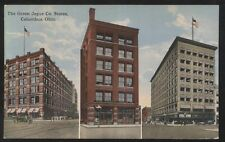 Postcard COLUMBUS Ohio/OH  3 Green Joyce Co Stores Buildings view