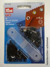 PRYM Ösen mit Scheiben Öse 4mm brüniert 542409