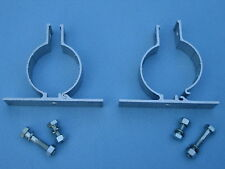 ALUMINUM PIPE POST BRACKETS FOR STREET SIGNS ROAD TRAFFIC PARKING SIGNS (1 PAIR)