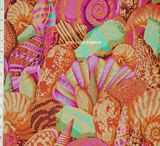 1 Fat Qtr Philip Jacobs SHELL MONTAGE PJ37 YELLOW Ocean Sea Kaffe Westminster