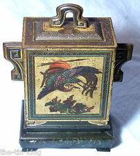 "RARE SPLENDID HUNTLEY&PALMERS ""CHINESE JAR""FIGURAL BISCUIT TIN 1922 ART DECO"