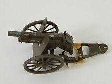 Vintage Spring Action Metal CAP GUN Military Cannon Toy - Made in Japan cracked
