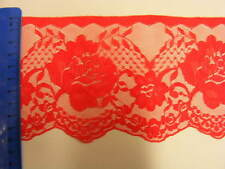 Red Flat Lace 90mm wide  (020) 5 mts