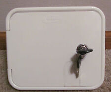 Valterra White Gravity City Water Inlet Fill Dish Hatch Lock RV Trailer SALE