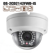 Hikvision DS-2CD2142FWD-IS 4MP WDR POE Mini Dome CCTV IR IP Kamera Outdoor 120dB
