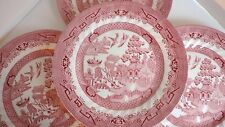 """SET OF (4) WESSEX COLLECTION PINK WILLOW ROSA 10"""" DINNER PLATES"""