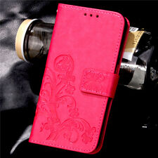 Magnetic Wallet Book PU Leather Card Flip Stand Cover LOT Embossing -SYC3 Case