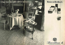 PUBLICITE ADVERTISING 104  1974 Revillon parfum n°4 femme (2p)