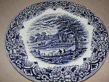 ROYAL ART MADE IN STAFFORDSHIRE BLUE PLATE