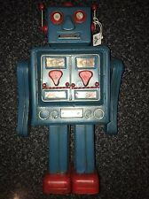 Antiqued Large Metal Retro 50'S Robot Money Box Piggy Bank