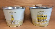 Miller High Life Bucket of Blondes 5 quart Ice Buckets  Set of 2 - New & F/Shipn