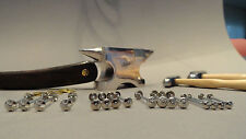 Cut throat Razor Repair Needs.PINS! Bulls-Eye,all in silver(silver coloured)