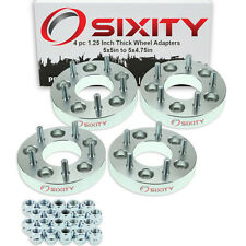 "4pc 1.25"" 5x5"" to 5x4.75"" Wheel Spacers Adapters Pickup Truck SUV Thick Stud pk"