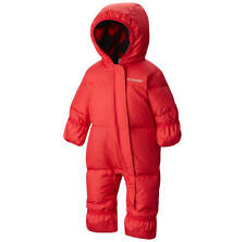 COLUMBIA Snuggly Bunny Infant Down Hooded Snowsuit Bodysuit - Red