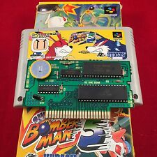 NEW Save Battery SUPER BOMBER MAN 5 with BOX Super Famicom Japan SFC SFC USED O5