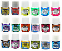 57 COLOURS PEBEO SETACOLOR FABRIC PAINT GLITTER OPAQUE SHIMMER SUEDE FLUORESCENT