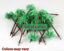 "DIORAMA PALM TREE SET 2 TREES PER PACKAGE 5.25"" for NATIVITY-FAIRY GARDEN-TRAINS"