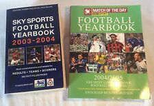 2x Collectable Football Yearbooks Sky Sports 2003-04 & Match Of The Day 2004-05