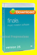 FINALE 25 DOWNLOAD - MUSIC NOTATION SOFTWARE - LOW EDU PRICE - VERSION 25 NEW