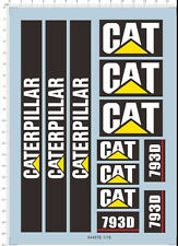 1/75 1/16 CAT 793D mining excavating truck caterpillar Model kit Water Decal
