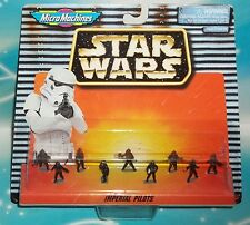 STAR WARS MICRO MACHINES SPACE IMPERIAL  PILOTS  9 PC MINI FIGURE SET
