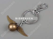 Brand New Harry Potter Quidditch Golden Snitch Wing Key Ring Chain Keychain Gift