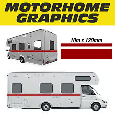 Motorhome Graphics, 10m Stripe Design, Exterior Signs & Decals MHAB001