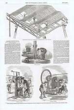 1850 Hyde Park Exhibition Drilling Machine Punching  Base Of Column Glazing  Roo