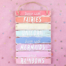 Hanging Wooden Sign Dance With The Fairies Mythical Hanging Plaque