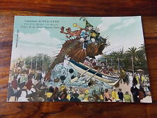 Carte postale ancienne Nice Carnaval Char Musique Alpes Maritimes 06 CPA