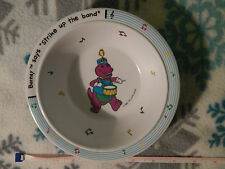 "Barney - ...Say's ""Strike Up The Band!"" 1992 (BOWL) Melamine (FREE SHIP.) Ltd."