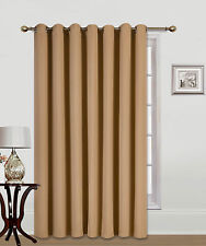 """1PC PATIO DOOR 14 GROMMETS WINDOW PANEL CURTAIN THERMAL BLACKOUT GOLD 100""""W"""