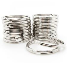 "Wholesale 1000pc Key Rings Silver Metal Split Rings 28mm 1 1/16"" Bulk Locksmith"