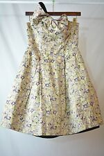 NWT Kate Young for Target - Multi-color FLORAL strapless dress BOW accent size 2
